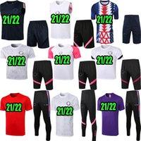20 21 21 22 Paris Polo Gilet Set Verratti Kean Marquinhos Kimpembe 2020 2021 2022 MBAPSE Tuta da calcio calcio