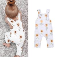 Girls Rompers Baby Jumpsuit Clothes Infant Girl Summer Cotton Flower Bodysuits Onesies Tank One Piece Clothing 0-2T B5171