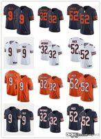 Jóvenes para mujerChicagoOsos32 DAVID MONTGOMERY WHITE 52 Khalil Mack Orange 9 Nick Foles Navy Customing Football Jerseys