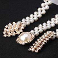 Belts Women's Pearl Waist Chain Korean Version Of Rhinestone Decoration Belt Fashion Sweet Dress Elastic Women