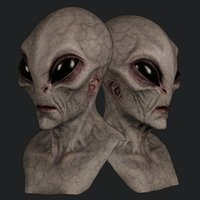 Party Masks Halloween Alien Mask Scary Horrible Horror Supersoft Magic Creepy Decoration Funny Cosplay Prop