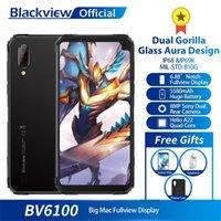 Blackview BV6100 듀얼 고릴라 6.88inches 스크린 스마트 폰 3GB + 16GB 안드로이드 9.0 IP68 방수 핸드폰 5580mAh NFC 휴대 전화