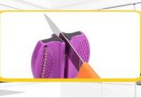 Varilla de cerámica 2-Paso Carburo Tungsteno Campamento de acero Pocket Cuchillo Sacapuntas Cocina Herramienta útil HWD6584