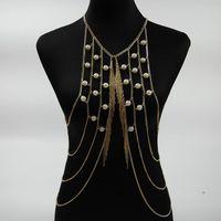 شرابة لؤلؤة الجسم سلسلة النساء necklacespendants بوهو سلاسل فاسق ماكسي قلادة الأزياء والمجوهرات القوطي كلين
