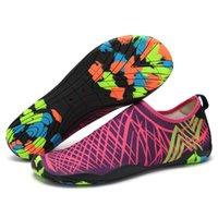 (el enlace para la orden de la mezcla) zapatillas antideslizantes Aqua-shoes nadando-agua playa plana adulto suave unisex