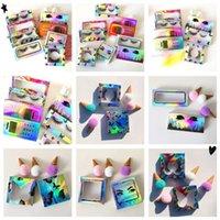 Laser-Karten-Papier-Wimpern-Verpackungskasten 3D Mink-Wimpern-Papierkiste für 25-mm-Wimpern-Großhandels-Bulk-billige hübsche Wimpern-Box ohne Tablett