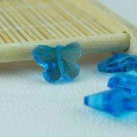 100 шт. 12x14 мм Озеро Синее Бабочка Кристалл Стекло Симпатичные Свободные Бусы Для Ювелирных Изделий Изготовление занавес Браслет DIY Beads