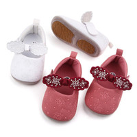First Walkers Baby Girls Autumn Shoes Non-Slip Floral Bow Princess Toddler Soft Walking Infant Girl PreWalker