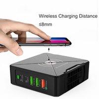 USB C 45W PD 충전기 스테이션 어댑터 무선 75W 전원 공급 QC3.0 PC 태블릿을위한 빠른 충전 QI 스탠드 스탠드