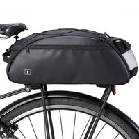Cycling Bags 41cm Waterproof Bicycle Rear Seat Bag Reflective Sign Light Bike Saddle Tail For Outdoor Sports