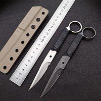 Basti Assassin 440C Fixe Blade Push Couteau droit tactique Tactique Chasse en plein air Sans défense Camping Camping Couteaux de poche EDC Micro ut88 BM 3300 4600