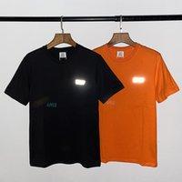 HOP HIPER Amerikan T-shirt Trendy Sokak Gevşek Mektubu Yansıtıcı Lazer Degrade Baskı Kısa Kollu Tee Eizv