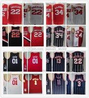 1993-94 Retro Erkekler Hakeem OLAJUWON 34 Clyde Drexler 22 Basketbol Formaları 2004-05 Tracy 1 McGrady Kaktüs 01 Jack Gömlek 02-03 Yao Ming 11 Mesh Donanma Şerit Kırmızı Beyaz