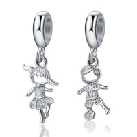 Passt Pandora Armbänder 20 STÜCKE Jungen Mädchen baumeln Anhänger Silber Charms passt Pandora Charms Armband Perlen für Schmuckherstellung 925 Sterling Silber Charms
