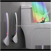 Fırçalar Yaratıcı TPR Şile Wallmounted Boşluk Köşe Yıkama Tuvalet Temizleme Fırçası Ev WC Banyo Temiz Aksesuarları Seti 201214 LLB LSPR2