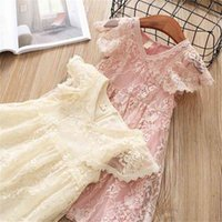 Summer Lace Girls Dress Flower Princess Party Toddler Girls ...