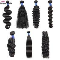 8-38inch 10A Mink Brazillian Straight Body Loose Deep Wave Kinky Curly Unprocessed Brazilian Peruvian Indian Human Hair Weave Bundles