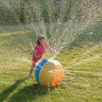 Tubos de flotadores inflables PVC Agua Spray Bola de playa para el césped exterior Juego de verano Jetry Jet