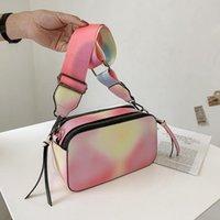 Evening Bags Fashion Rainbow Bag 2021 Little Fresh Girl Yang Qi Hundred Wide Shoulder Strap Slanted Camera