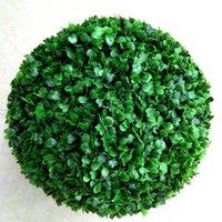 Ankomst konstgjord plast silke tyg grön blomma gräs växt boll för trädgård heminredning bröllop julstjärna parti dekorativa blommor