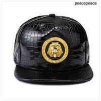 Yeni Altın Mısır Firavun Beyzbol Şapkası PU Deri Hip Hop Punk Stil Düz-Blimmed Snapback Şapka Erkekler Kadınlar Serin Erkek Moda Kapaklar