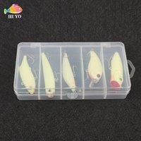 Рыбалка крючки 5 штук Дорога Субрядная приманки Минобо Выбрать карандаш маленький жирный VIB светящийся пластиковый комплект коробки портативное снаряжение