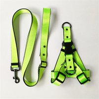 Pet Lead Leash Collar Dog Harness and Leash Small Dogs French Bulldog Chihuahua Collar for Yorkies 5 color S M L