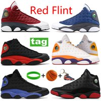 Newest red flint black hyper royal basketball shoes lucky green reverse he got game low pure platinum sneakers bred men trainers Size 40-47