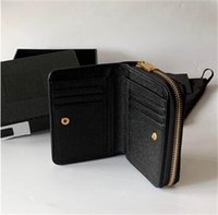 Fashion Classic Women Top Quality Full Leather Luxurys Designer Wallet Gold and Silver Buckle Coin Purse Card Holder 12cm With box #032