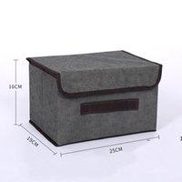 Boîte de rangement avec couvercle en tissu pliable en tissu pliable non tissé cubes organisateur bébé jouet FWD10657