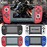 X18S Game Player 4.3 inch Handheld Game Console Double Joystick Support MP4 Player TF For PS1 GBC MD Game FOR Best Gift