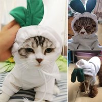 Hoodie Pet Clothes Pet Supplies Autumn Winter Puppy Dog Teddy Cat Hooded Sweater White Radish Holiday Costumes