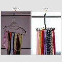 Tie Rack Multi-function Rotating JK Tie Rack Gadget Wardrobe Belt Silk Scarf Hook Storage Artifact Belt Rack