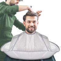 Creative DIY Apron Hair Cutting Cloak shaver Coat Barber Salon Stylists Umbrella Cape CuttingCloak Household Cleaning Protector HHA6132