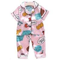 Clothing Sets Baby Boys Girls Pajamas Set Kids Cartoon Sleepwear 2-pieces Short Sleeve + Pants Toddler Children Clothes