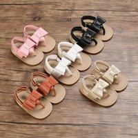 طفل أول مشوا أحذية الانحناء بنات الصنادل الأخفاف لينة الرضع الأحذية جلد الوليد ملابس الشاطئ B7356