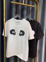 Diseñador de hombres 2021 Hombres de verano y algodón de las mujeres Camiseta de algodón suelta Pareja Italiana estilo simple Skull Hip Hop Manga S-XXL.