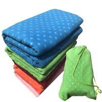 Non Slip Yoga Mat Cover Towel Anti Skid Microfiber Size Shop Towels Pilates Blankets Fitness Mats