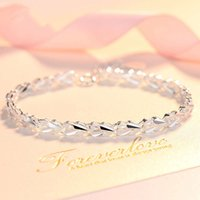 bracelet style creative personality simple heart to bracelet women's 925 silver plated Korean XO clover Bracelet
