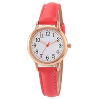 Clear Numbers Fine Leather Strap Quartz Womens Watches Simple Elegant Students Watch 31MM Dial Wristwatches