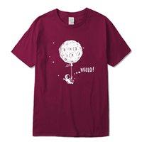 T-Shirts 100% cotton short sleeve Interesting space flight design print Tshirt casual o-neck loose t-shirt men tee shirtssoccer jersey