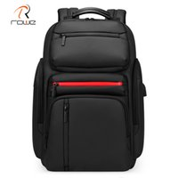 Rowe 새로운 패션 남자 비즈니스 멀티 기능 도난 방지 배낭 15.6 인치 노트북 가방 USB 충전 방수 여행 가방 201119