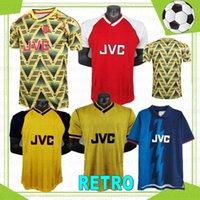 93 Retro Erkekler Futbol Formaları Henry Bergkamp V. Persie 83 86 88 Mens 94 95 97 Vieira Merson Adams Eve 3rd Futbol Gömlek Üniforma Tayland Camisetas de Fútbol