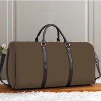 Mode de luxe Hommes Femmes Travel De Haute Qualité Sacs Duffle Sacs Marque Designer Bagages Véritable Sac à main en cuir véritable avec verrouillage de grande capacité sac de sport 45 50 55cm