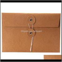 Event Festive Supplies Home & Gardenvintage Kraft Paper Envelopes For Party Wedding Invitations Greeting Card Envelope Gift Cards Drop Delive