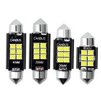 2 / 10pcs 자동차 LED Festoon 조명 C5W C10W Canbus 없음 오차 31 / 36 / 39 / 41mm 자동 인테리어 전구 라이센스 플레이트 램프 화이트 12V 다이오드