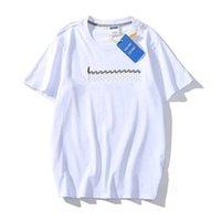 الجملة المرأة s t-shirt تيز نوعية جيدة خطابات التطريز ارتفاع الرجال إمرأة تي شيرت الربيع الصيف الخريف زوجين قمم المحملة عارضة القطن