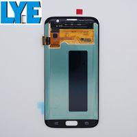 LCD Ekran Samsung Galaxy S7 Edge AMOLED Ekran Dokunmatik Paneller Digitizer Montaj Çerçevesi olmadan Değiştirme