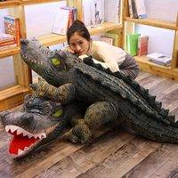 2M Big Real Life Crocodile Stuffed Simulation Animal Ren Boy Soft Plush Doll Toy G0913