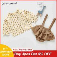 Keaiyouhuo Baby Mädchen Home Service Anzug Baby Kinder Kleidung Mädchen Frühling und Herbst Flanell Pyjamas Zwei Teiler Weihnachtsanzug X0401